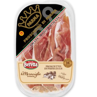 jambon de Parme 18 mois AOP tranché 80g Merveilles d'Italie BERETTA